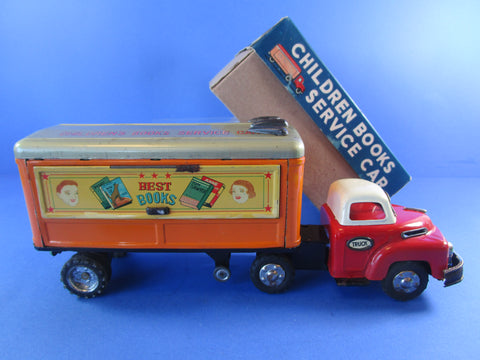 A.N made in Japan Children Books Service Car, from the early 1960's, boxed, rare toy!
