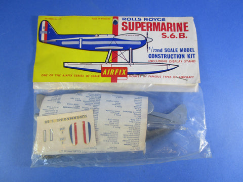 Airfix No.1391 Rolls Royce Supermarine S.6.B, rare kit.