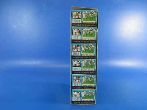 Britains Mini Set 1081 'Knights in Combat', trade pack of six.