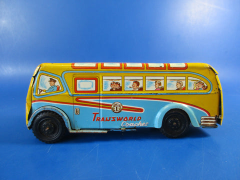 Wells Brimtoy 'Transworld' tinplate coach
