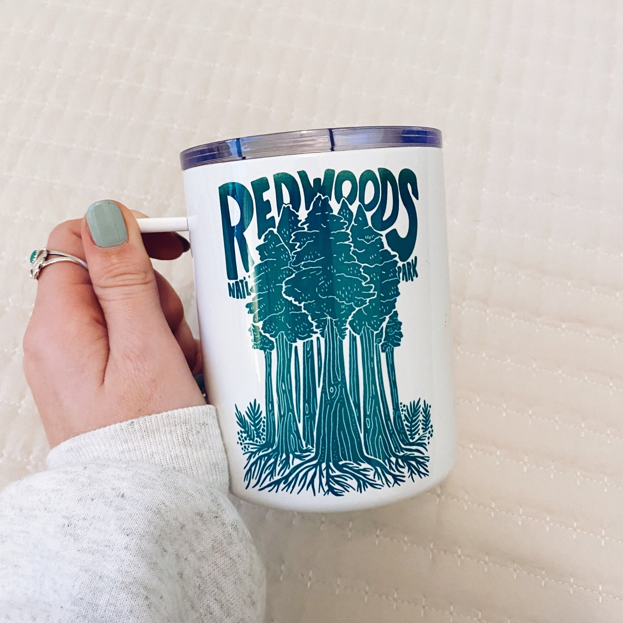 Redwoods Travel Mug - Hand Printed