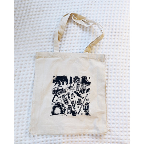 Camp Things Canvas Tote