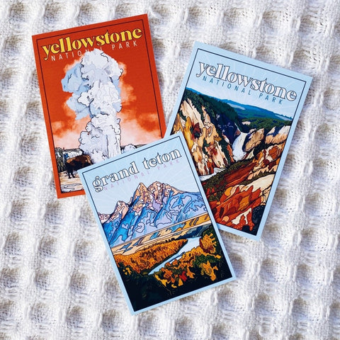 Wyoming National Park Sticker Set