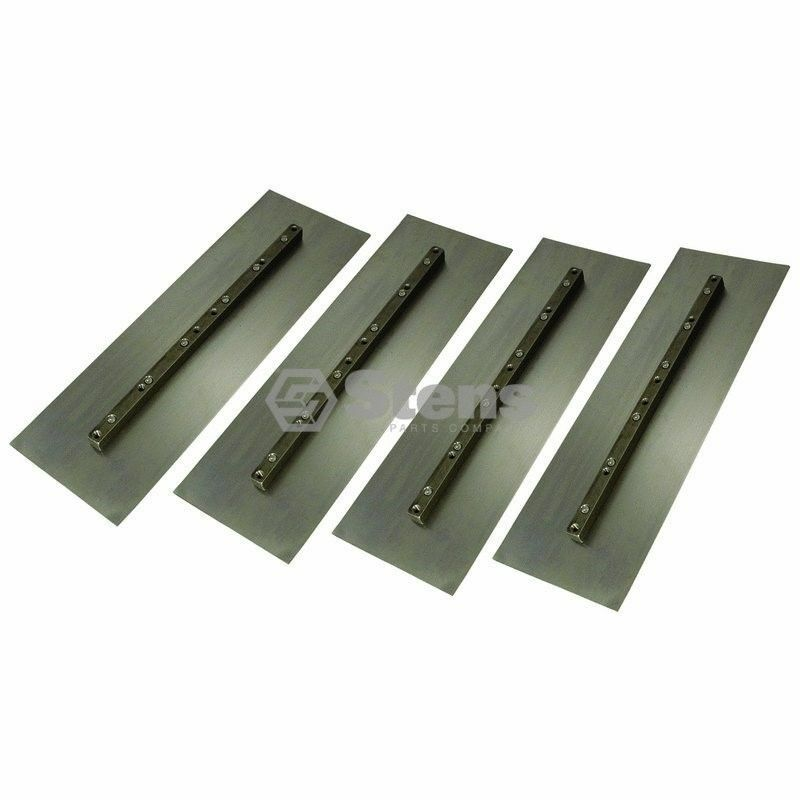 Pack of 4 Trowel Blade, Finish Blade, 6in  x 18in  Stens #750-043