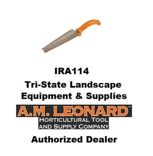 AM Leonard Stainless Steel Soil Tool w/Serrated Edge & Flat Spading Tip #4754