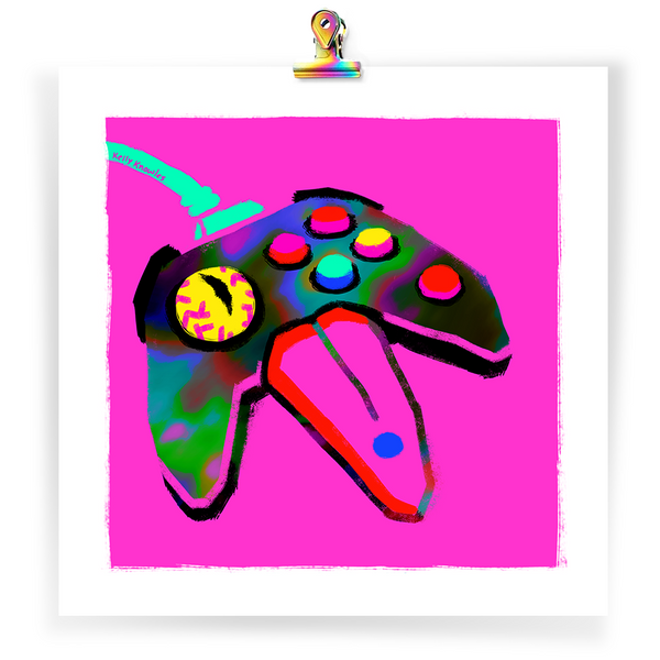 """N64 mimic"" art print"