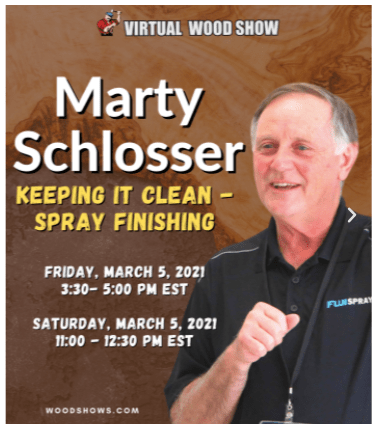 Marty at the Virtual Wood Show 2021
