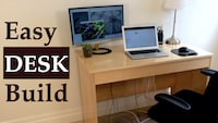 Easy Desk Build Project on YouTube