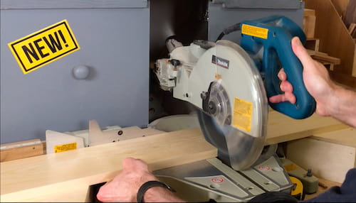 Miter saw dust collection hood to control wood dust in the workshop