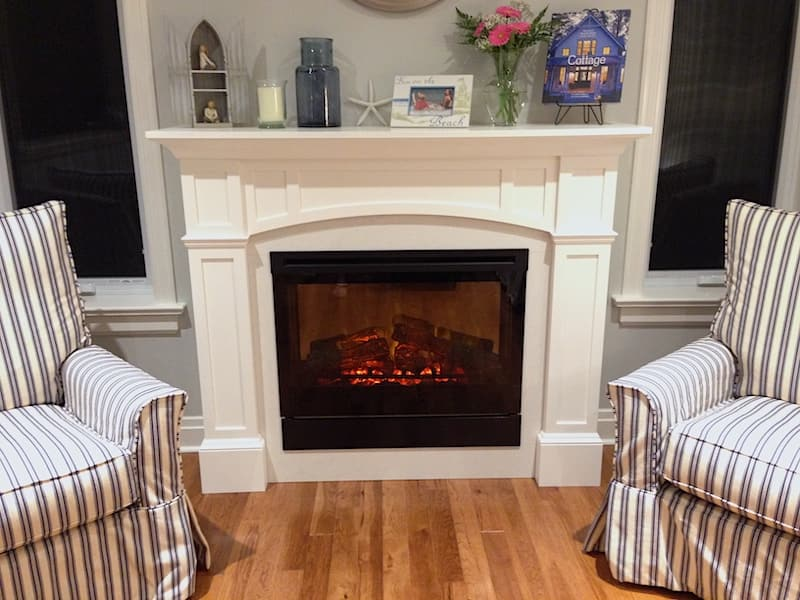 White Fireplace Mantel from our Classic Coastal Fireplace Mantel Plans