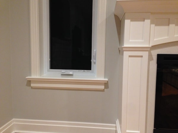 Window sill finished and installed