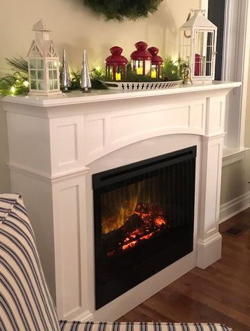 Classic Coastal Fireplace Mantel Plan