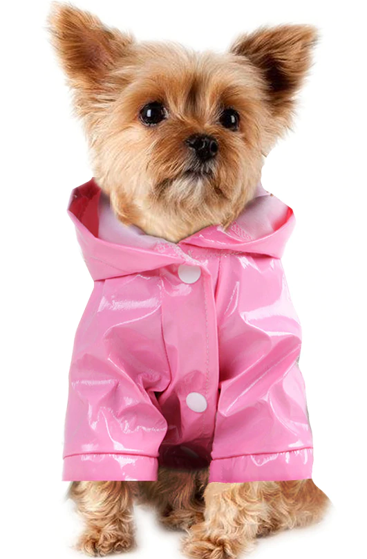 Super Cute Outdoor Waterproof Puppy Pet Rain Coat With A Hoodie