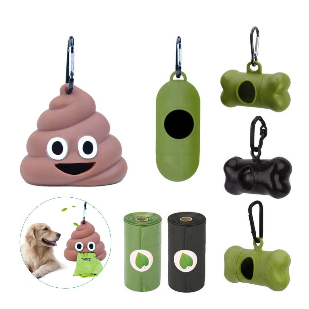 Waste Bag Holders for Dogs & Cats & Roll Refill