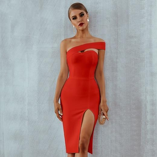 Woman in red dress summer fashion trends