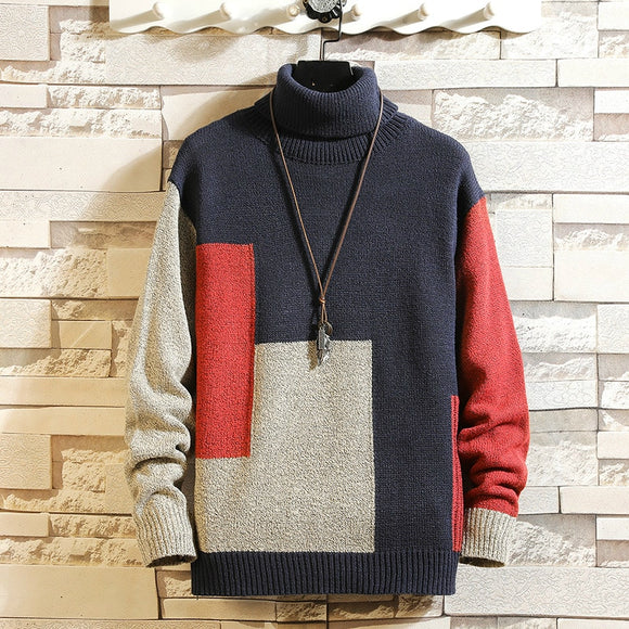 New Men's Sweater Winter Turtleneck Pullover Fashion Designer Sweater  Mens Long Sleeve Sweats  Ropa De Hombre 2020 Plus Size 5X