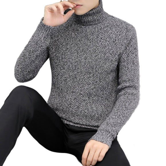 New Mens Sweaters Winter Turtleneck Warm Casual Knitted Pullovers Fahsion Turtleneck Mens Sweaters 2020 Pull Homme Sueter Hombre