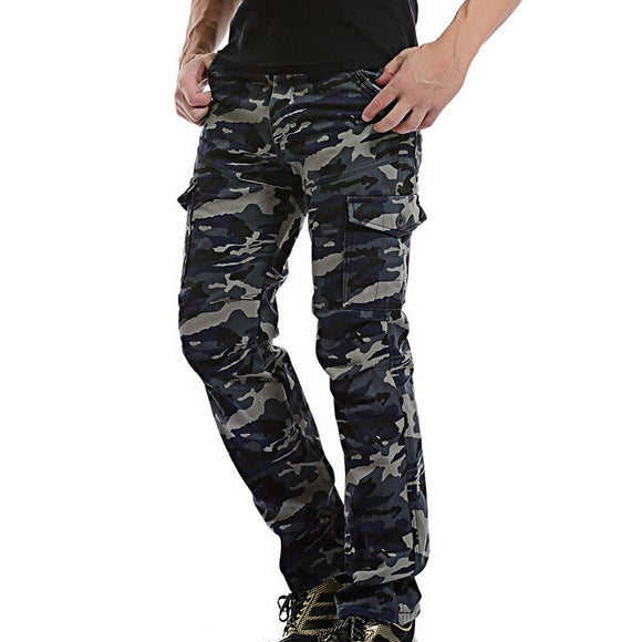 New Mens Cargo Pants Winter Thicken Fleece army camo Cargo Pants Men Cotton Military Tactical Baggy Pants Warm Trousers 40