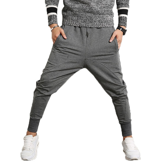 Brand Men Pants Hip Hop Harem Joggers Pants Male Sportswear Cotton Trousers Mens Joggers Solid cross  Pants Sweatpants 5XL