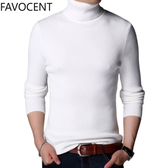 Men Turtleneck Sweater Men 2020 Winter Thick Warm Men's Pullover Casual Classic Turtleneck Cashmere Pullover  Male Sweater