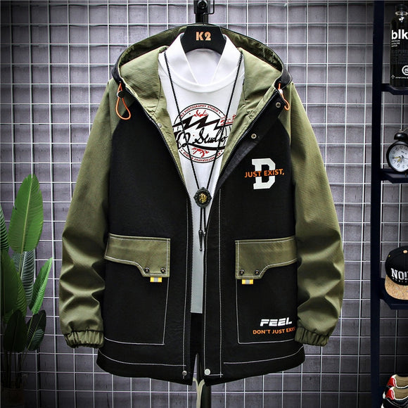 Jacket Men 2020 Print Hooded Fashion Jacket Korea Version Loose Spring Autumn Jacket Popular Logo Casual Jacket Men