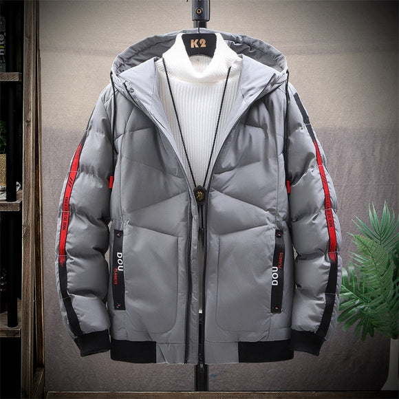 2020 Autumn Winter Warm Jacket Men Fashion Hooded Solid Thick Jackets Male Cotton-Padded Men's Coat Plus Size Drop Shipping