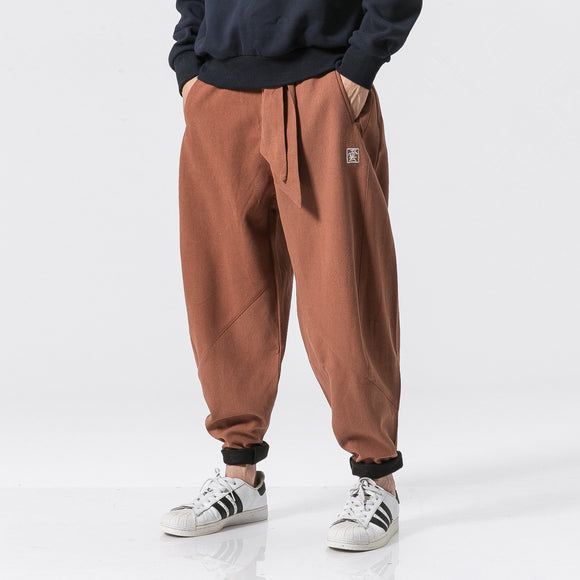 Men Linen Cotton Pants  2020 Spring Summer Mens Pants Drawstring Brand Chinese Thin Trousers Male Hip Hop Jogger Pants  M-5XL