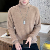 New Winter Sweater Men Fashion Turtleneck Sweater Men Solid Casual Streetwear Pullover Male Warm Knitted Pullover Men Sweater