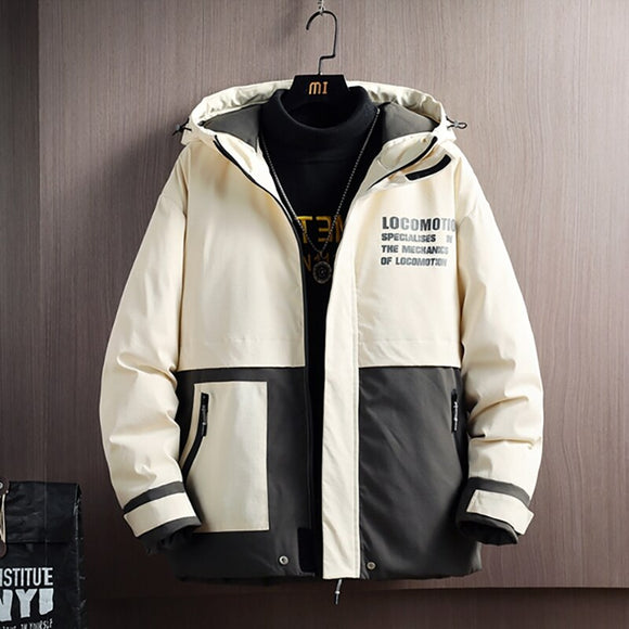 New Winter Warm Jacket Men High Quality Thick Coat Youth Fashion Patchwork Casual Men's Coats Plus Size 4XL Drop Shipping
