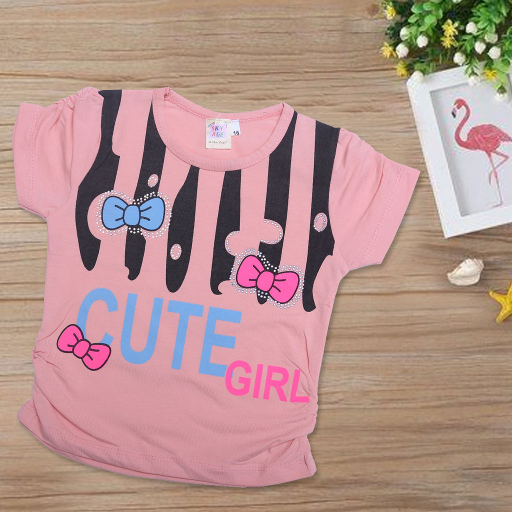 Girls Printed T-Shirt Cute-Girls-A