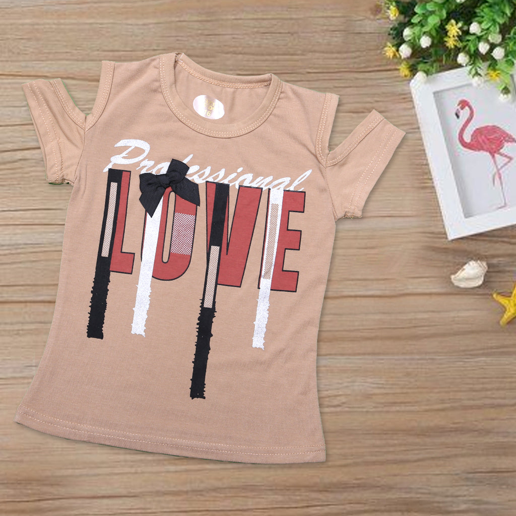 Girls Printed T-Shirt ( Code-347)-A