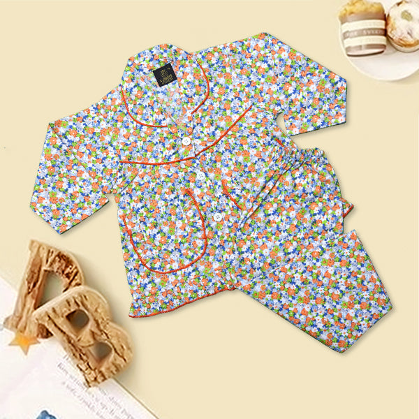 Girls Night Suit Color Multi-G