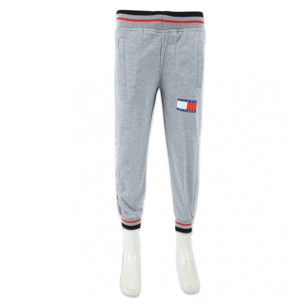 Boys Rib Trouser Light-Grey-A