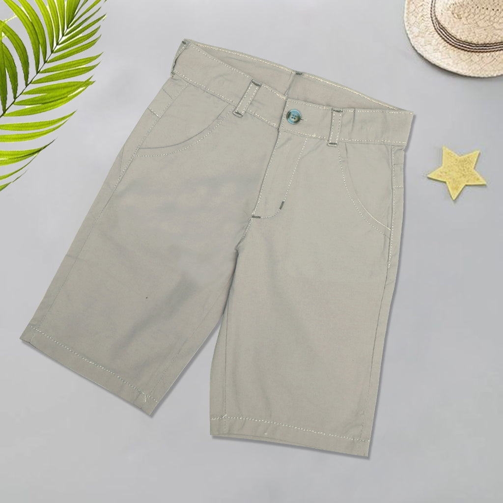 Infant Plain Cotton Short Color Camel