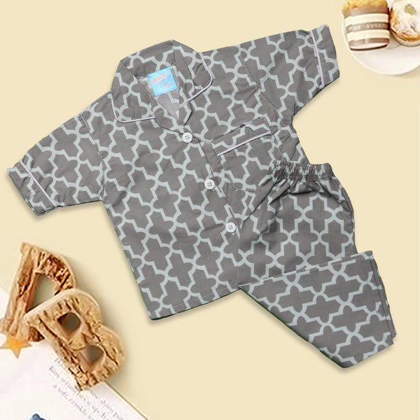 Infant Unisex Night Suit Color New-Grey