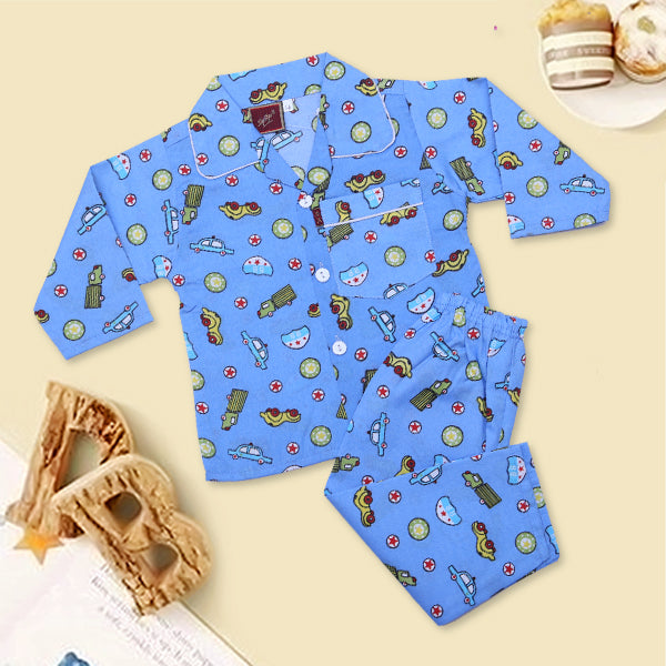 Boys Night Suit Color Blue-N