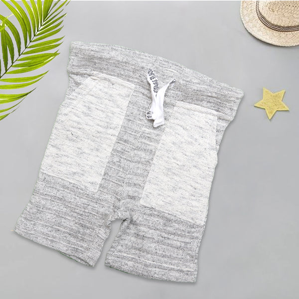 Infant Plain Cotton Short Color Light-Grey