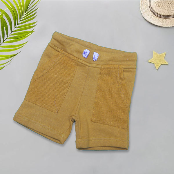 Infant Plain Cotton Short Color Mustard