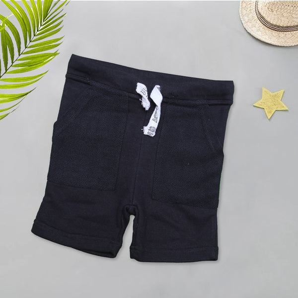 Infant Plain Cotton Short Color Black