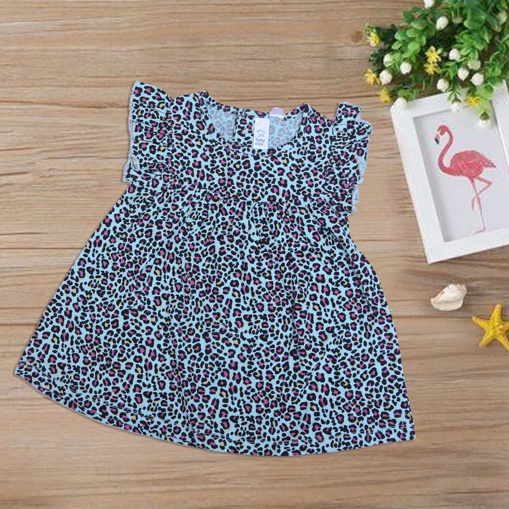 Baby Printed Frock Color Sea-Green