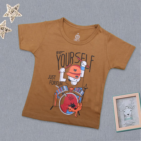 Baba Printed T-Shirt ( Be Your Self Just For Fun )-B