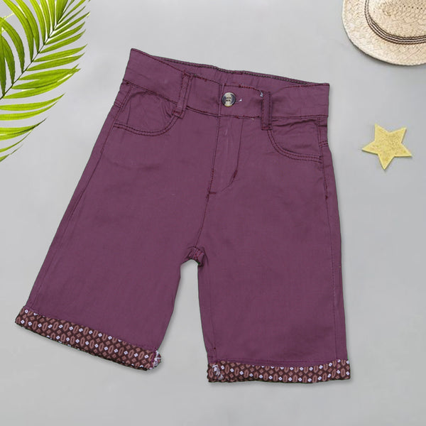 Infant Plain Cotton Short Color Purple