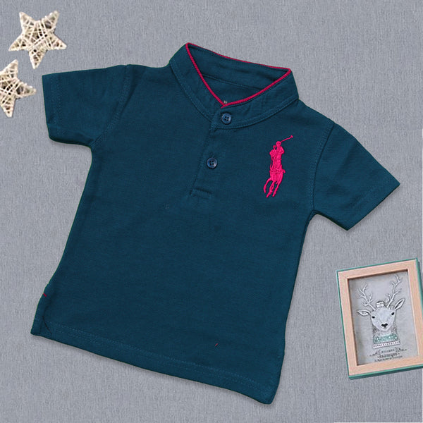 Baba Band Collar T-Shirt -F (Big Polo )