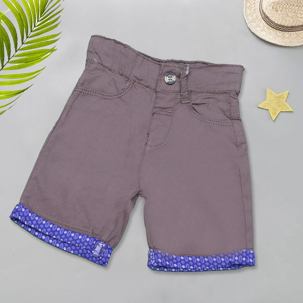 Infant Plain Cotton Short Color Coffee