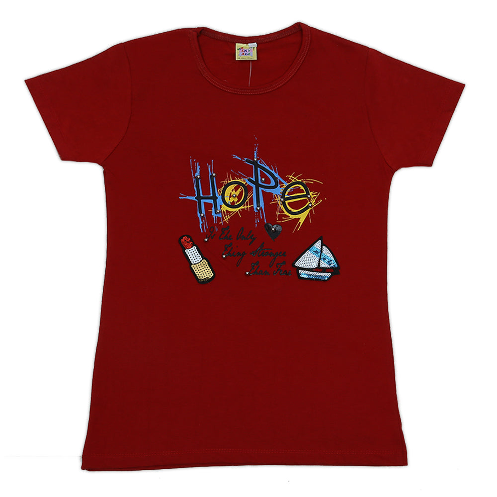 Girls Printed T-Shirt Hope