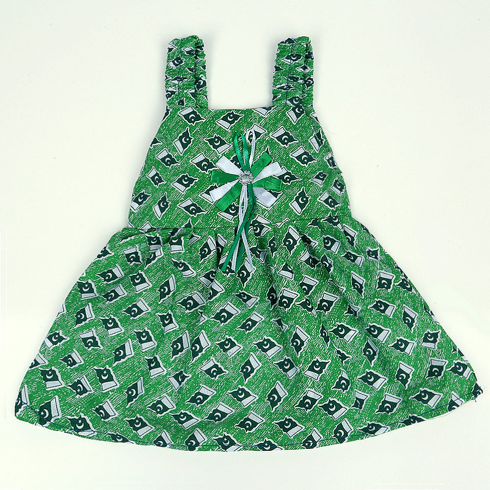 Girls Frock 14th August Color Dark-Green-A