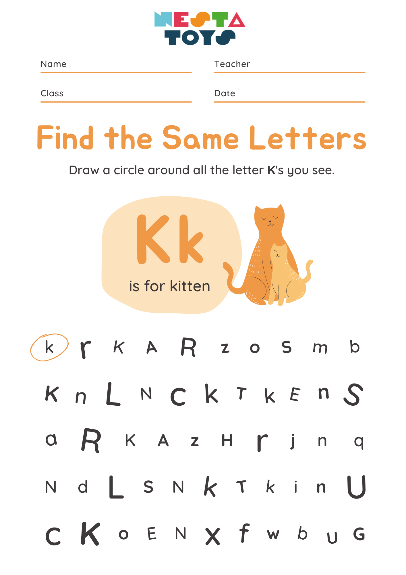 Find the same letters