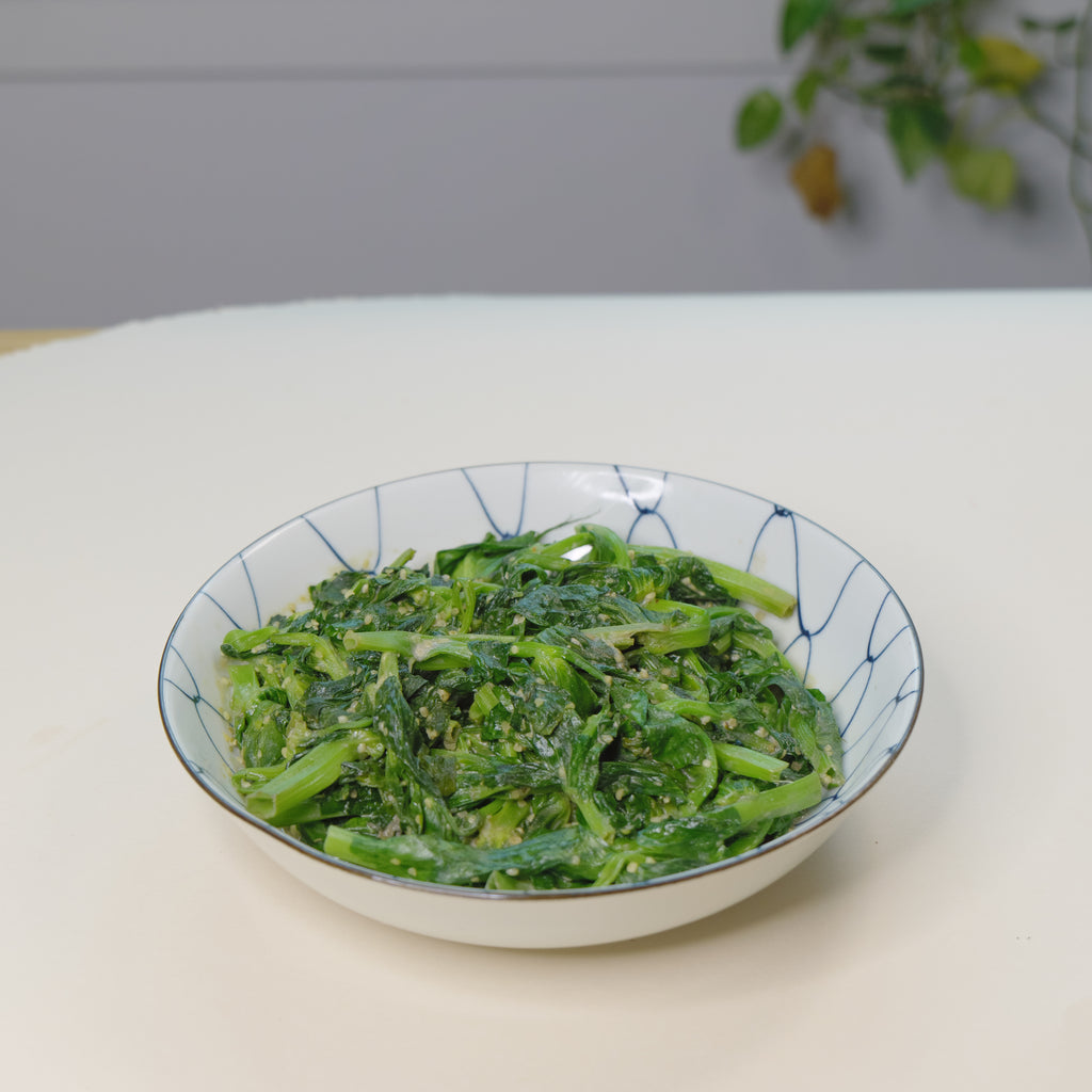 Tahini Braised Pea Shoots | 火麻仁麻酱豆苗