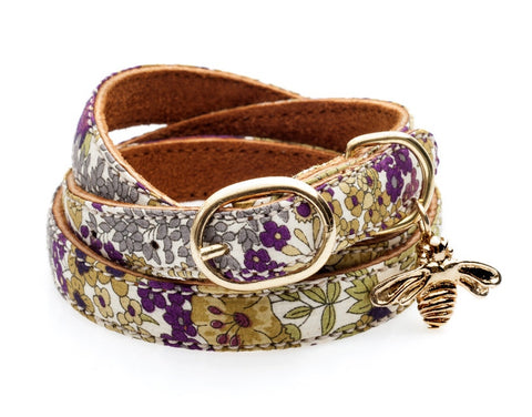 Cinderela B Liberty Print Leather Wrap bracelet | Lush Labels