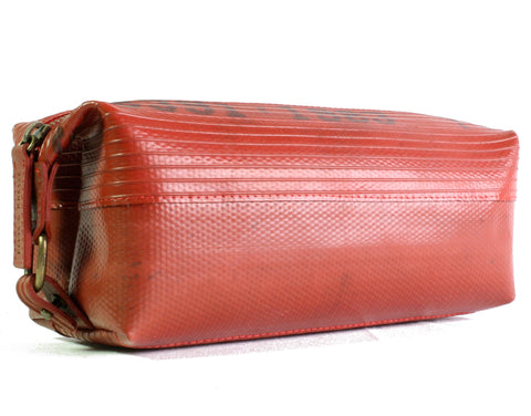 Elvis & Kresse Wash Bag made of up cycled London Fire Brigade Hose Pipe | Lush Labels